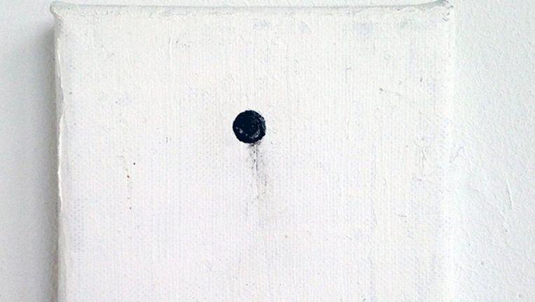 Portret of the nail behind the canvas van kunstenaar Bas van Wieringen Beeld Frans Hals Museum