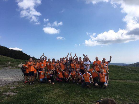 De stuurgroep 'Samen bewegen voor Adem' is geslaagd in zijn opzet. Een veertigtal mensen heeft de mythische Ballon d'Alsace bedwongen met een eenwieler.