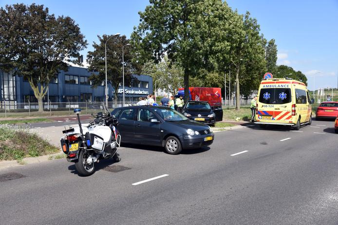 De botsing op de Nieuwe Dukenburgseweg vond plaats ter hoogte van de afslag naar de Gamma.