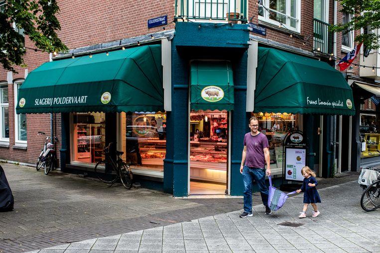 Slagerij Poldervaart in de Pretoriusstraat (