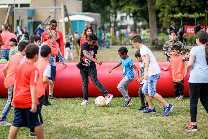 Kinderfeest bij wijkcentrum De Magneet.