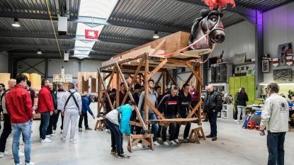 Storm of geen storm, Pijnders starten trainingen om meer dan 800 kilo zwaar Ros Beiaard door de stad te dragen
