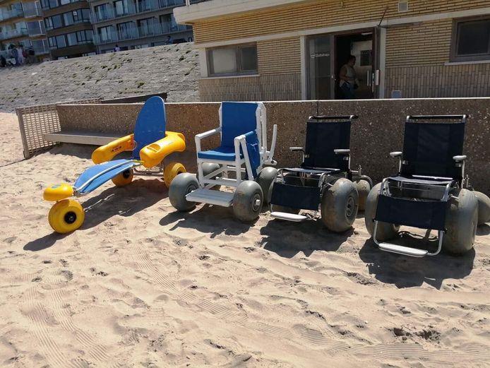 De strandrolstoelen staan al klaar in Blankenberge.