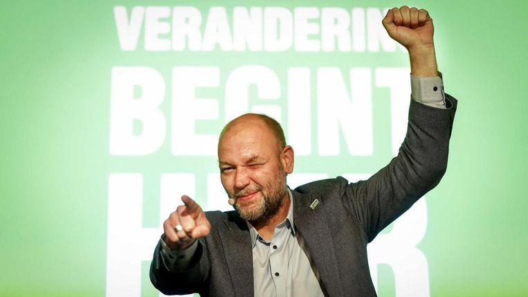 Rutger Groot Wassink viert de overwinning Beeld ANP