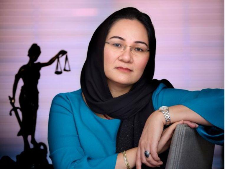 """Shirin Musa, oprichter van Femmes for Freedom, zat gevangen in een islamitisch huwelijk. """"Dit is een feestelijke dag."""" Beeld Mark Kohn"""
