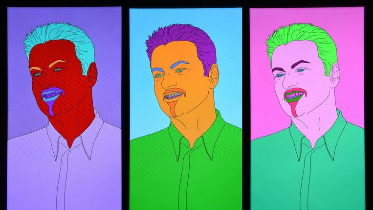 Commissioned Portrait Untitled (George), 2007, Michael Craig Martin. Beeld Michael Craig Martin