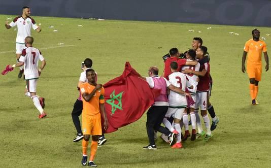 Marokko viert het behalen van het WK, voor de eerste keer in 20 jaar.