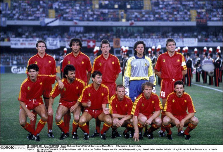 Op het WK '90 verslaat België Uruguay in de tweede match van de groepsfase. Enzo Scifo bekroont zijn prestatie door de 2-0 te maken.