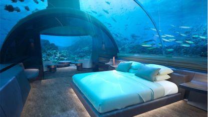 Kijk binnen in eerste luxueuze onderzeese hotelsuite ter wereld