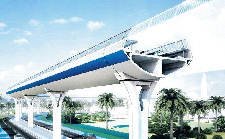 Een blauwdruk van de nieuwe metrolijnen in Riad, de hoofdstad van Saoedi-Arabië. Het Nederlandse Strukton is een van de bouwers. Beeld