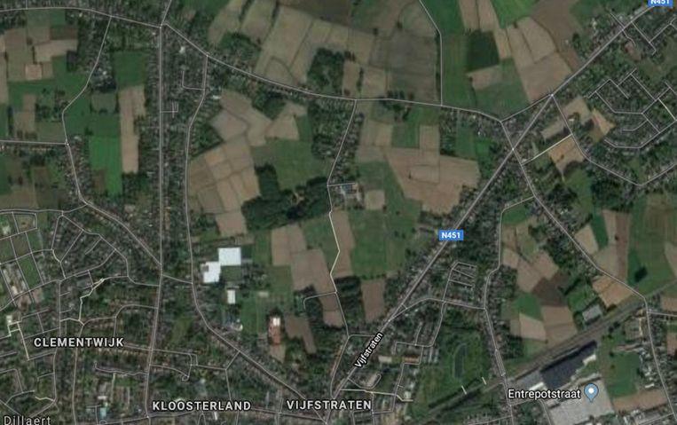 Het bolleakkergebied, tussen Vijfstraten/Klapperbeekstraat, Godsschalkstraat, Vrouweneekhoekstraat en Sparrenhofstraat.