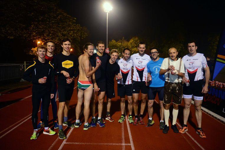 Deze deelnemers zijn klaar voor het Belgisch Kampioenschap Beermile.