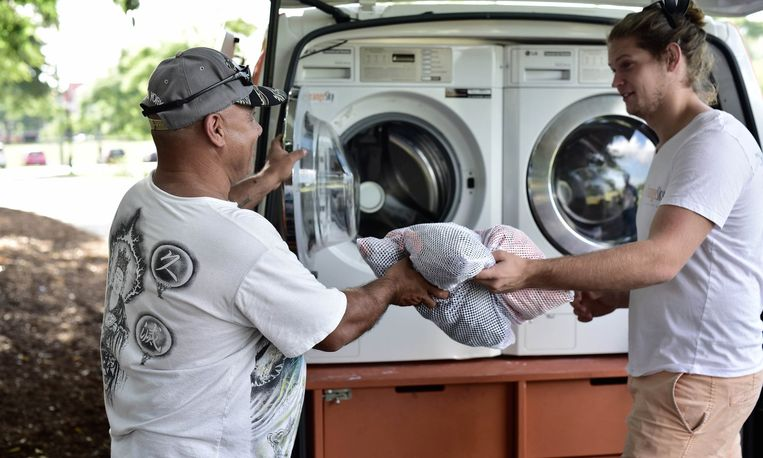 Wassen voor daklozen