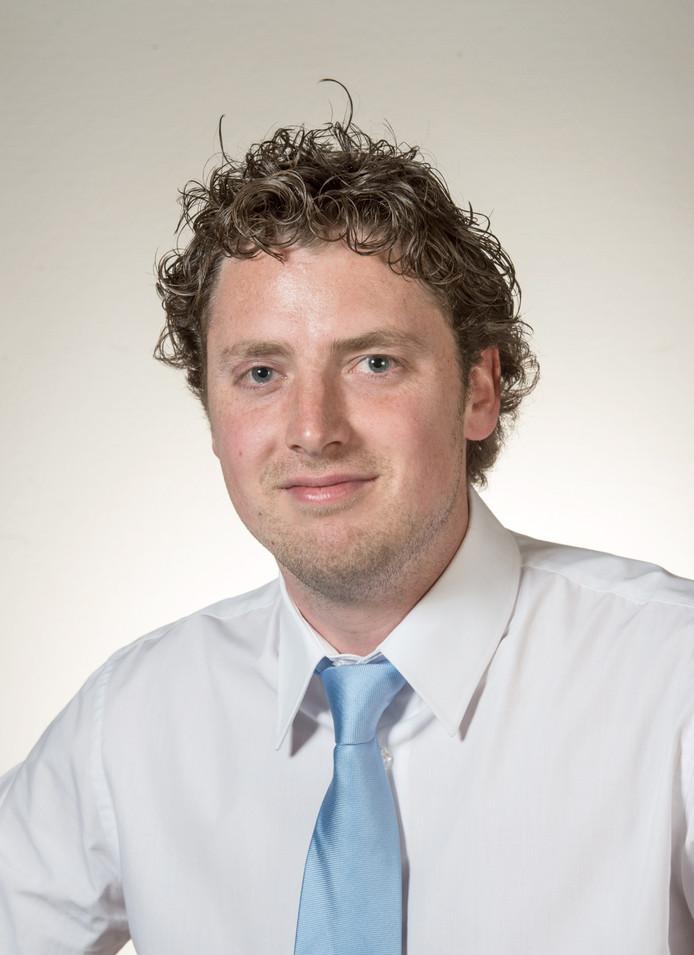Thom Blankers, nu nog fractievoorzitter van de VVD in de gemeenteraad van Heusden. Binnenkort wethouder.