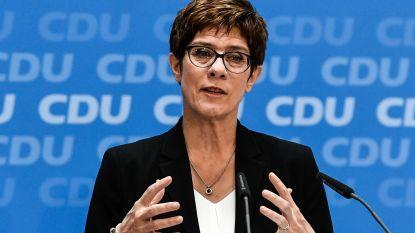 CDU-voorzitter en Merkelgetrouwe Annegret Kramp-Karrenbauer wordt nieuwe Duitse minister van Defensie