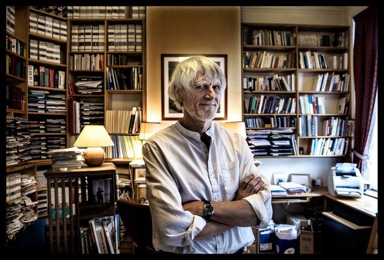 Professor Philippe Van Parijs (65); econoom; filosoof; 2017 Beeld Humo / Saskia Vanderstichele