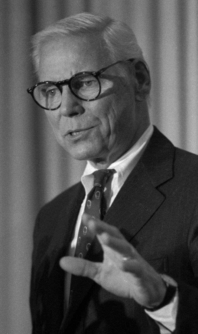 Warren Anderson, de toenmalige directeur van de fabriek in Bhopal. Beeld ap