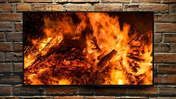 Brandweer opgeroepen voor haardvuur... op tv