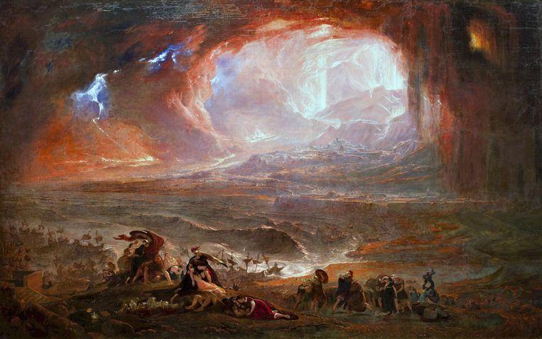 John Martin, De verwoesting van Herculaneum en Pompeï (1822-26). Beeld Imageselect