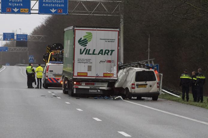 Het ongeval gebeurde woensdagmiddag op de A30 bij Barneveld