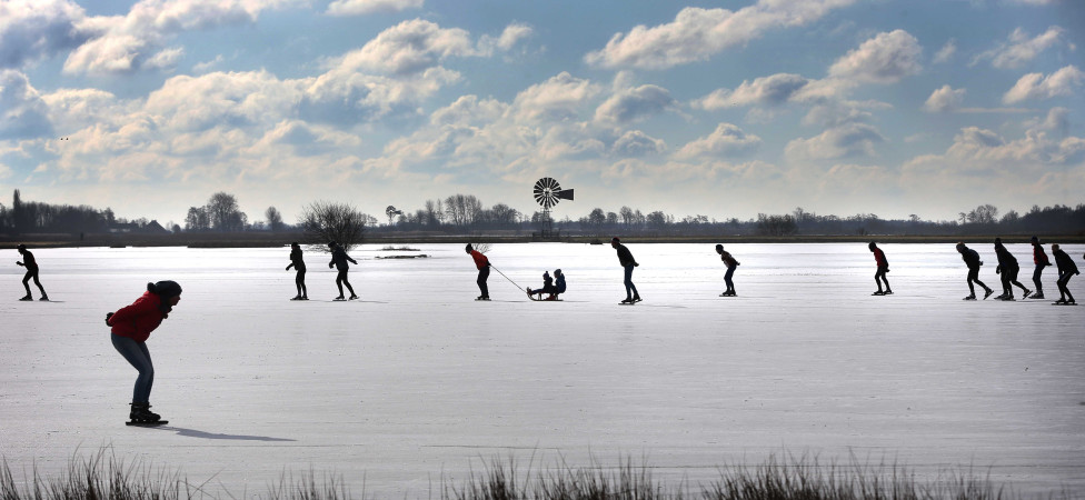 Schaatsen, een minimalistische, sobere sport. Echt protestants