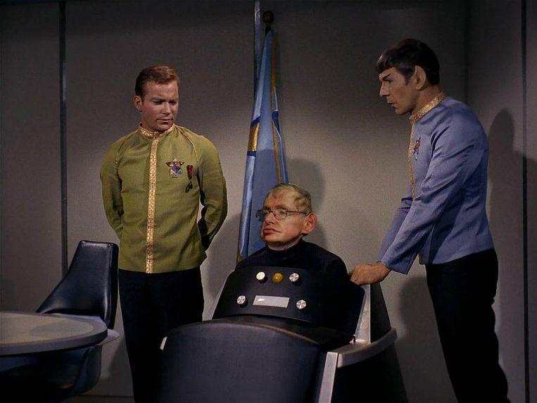 'Stephen Hawking' in de televisieserie Star Trek. Beeld