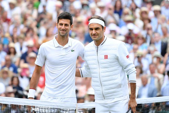 Novak Djokovic versloeg Roger Federer dit jaar in de halve finale op Wimbledon.