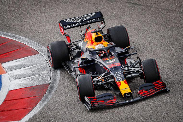 Max Verstappen een week geleden in actie tijdens de Grand Prix van Rusland. Beeld BSR Agency