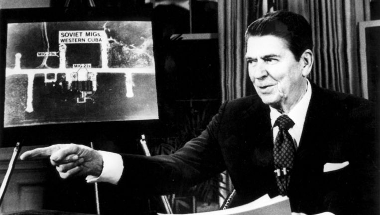 Ronald Reagan, 1983. Beeld anp