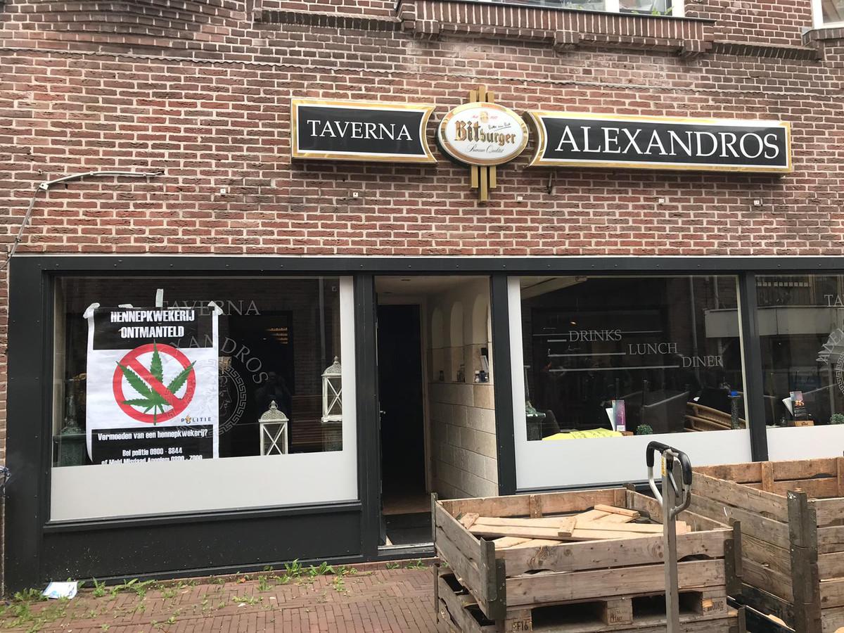 Alexandros in Huissen, na de politie-inval van donderdag 5 september.