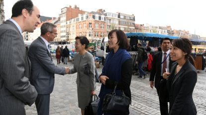 First Lady van Japan op bezoek in Leuven