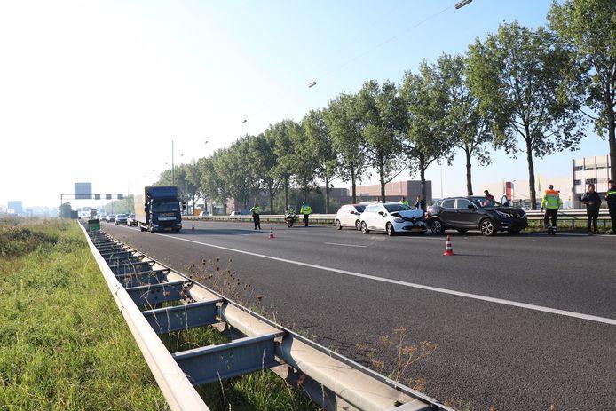 Foto ter illustratie. Een eerder ongeval op de A12.