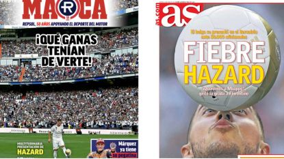 """""""De koning van Zidanes tactisch bord"""": 'Hazard-koorts' op Spaanse voorpagina's"""