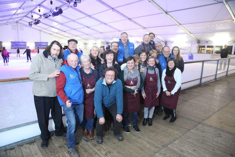 De ploeg achter Halle Schaatst is blij met het resultaat na de tiende editie van de overdekte ijspiste.