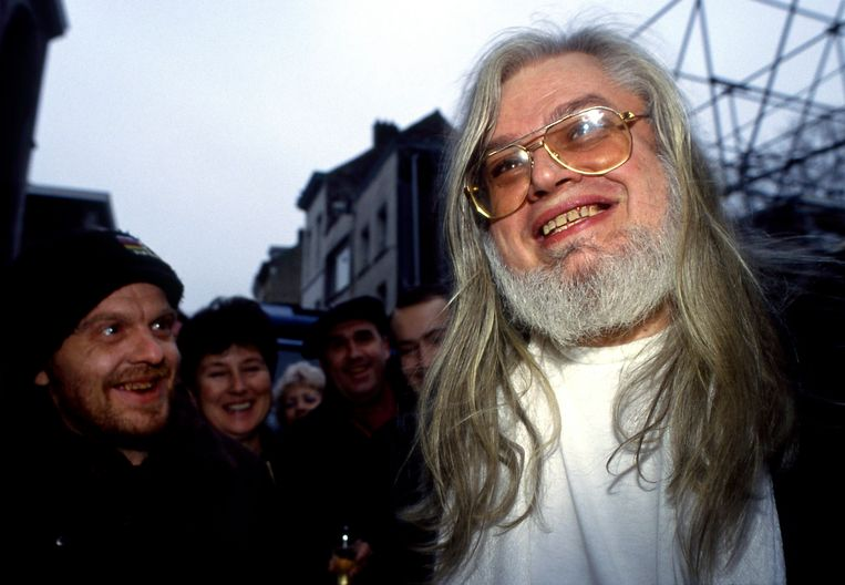 Jean-Pierre Van Rossem bij zijn vrijlating in 1992.