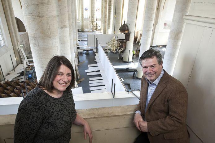 IEva Kleeman en Daaf Ledeboer, initiatiefnemers van de tentoonstelling Roofkunst.