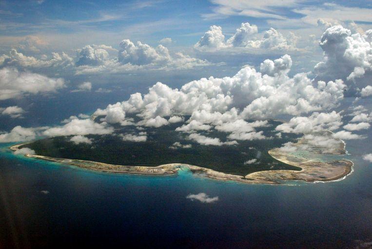Het afgelegen eiland Noord-Sentinel valt onder het gezag van India.  Beeld AP