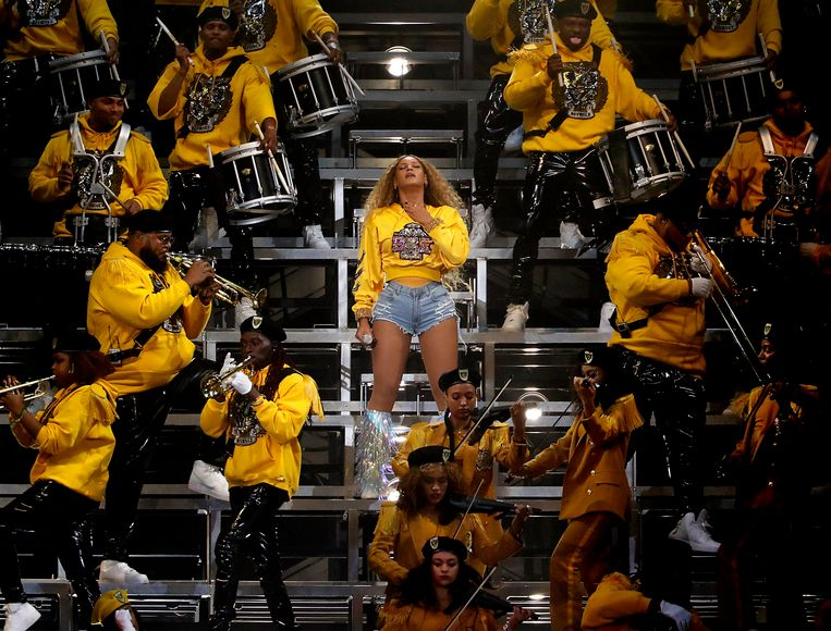 April 14, 2018 - Indio, California, United States: Beyonce performs at the Coachella Music and Arts Festival in Indio on Saturday, April 14, 2018. (Luis Sinco/Los Angeles Times/Polaris) © PHOTO NEWS / PICTURES NOT INCLUDED IN THE CONTRACTS  ! only BELGIUM ! *** local caption *** 06164991