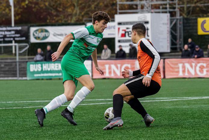 Tijn van Galen maakte zijn debuut bij Baronie en viel sterk in met een assist.