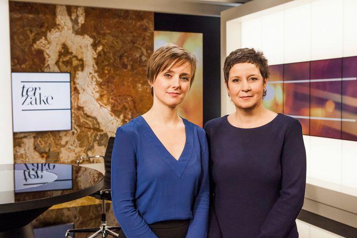 'Terzake'-ankers Annelies Beck en Kathleen Cools