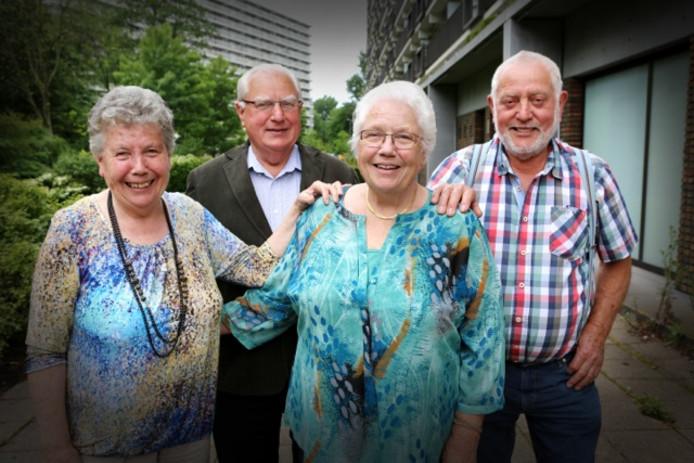 De zussen en broers uit het gezin Verbruggen.