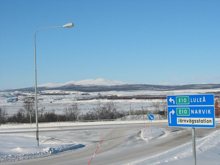 Kiruna, Zweden.