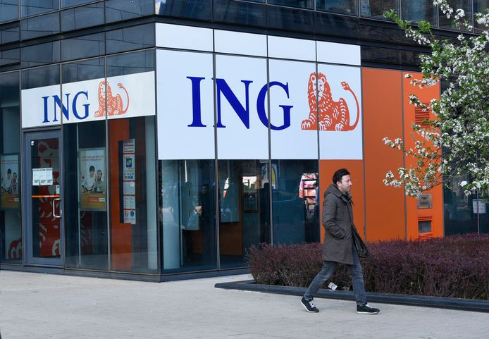 Een ING-kantoor (niet het kantoor in Ravels).