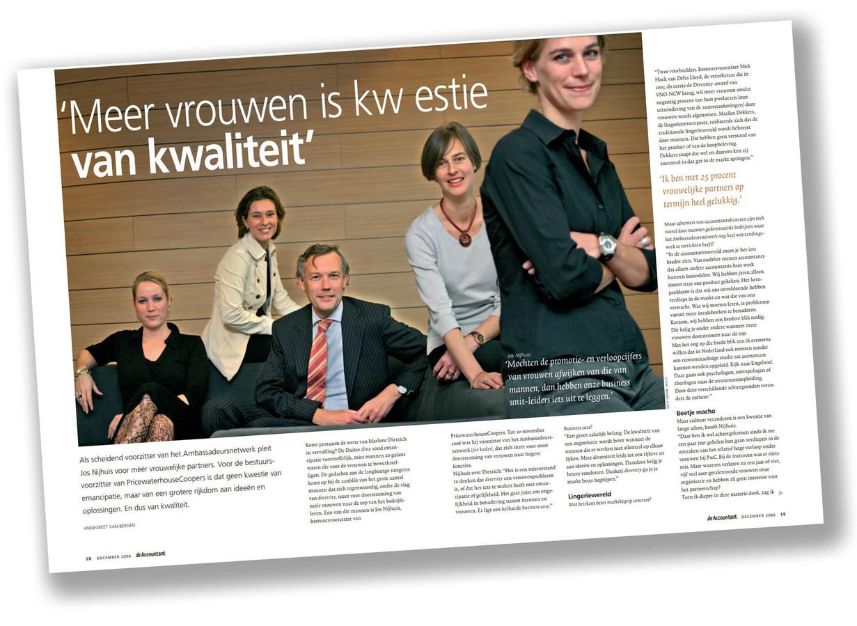 Jos Nijhuis in De Accountant, uit december 2006 Foto Sanne van Es