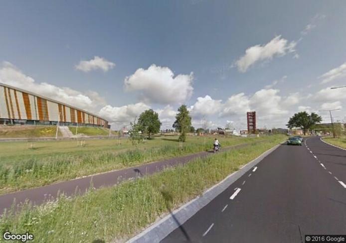 Het fietspad langs de Laan van Erica. Foto: Google Streetview