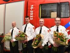 Vier brandweermannen in Woubrugge geridderd