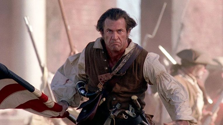 Mel Gibson in The Patriot. Beeld