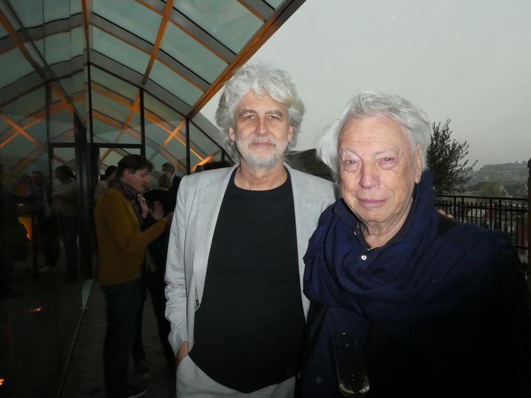 Rein Jansma, architect van Capital C: 'Hoe een rijksmonument weer de kwaliteit van een rijksmonument krijgt.' Met architect Cees Dam. Beeld Hans van der Beek