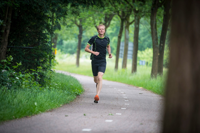 Arthur Wierenga in voorbereiding op de Marathon Amersfoort.