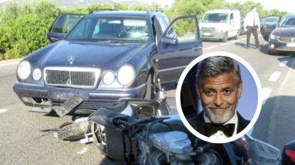 Videobeelden tonen verkeersongeluk George Clooney